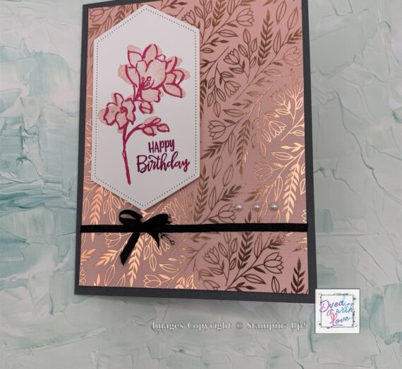 A Touch of Ink Birthday Card for Inkin' Krew Blog Hop