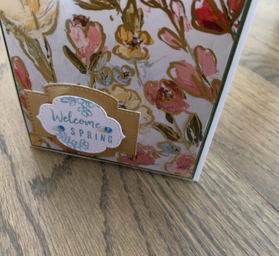 Fine Art Floral Welcome Spring Card for Inkin' Krew Blog Hop