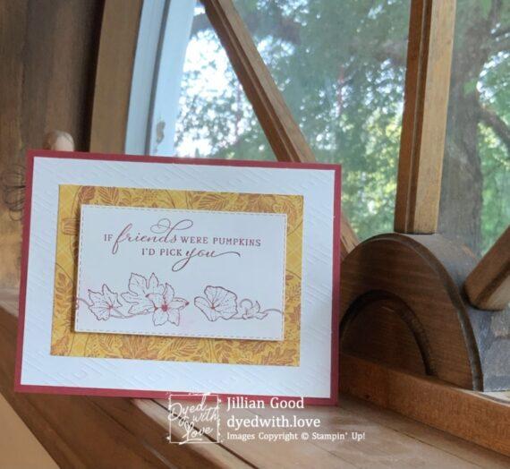 Pretty Pumpkins Friendship Card for Inkin' Krew Blog Hop
